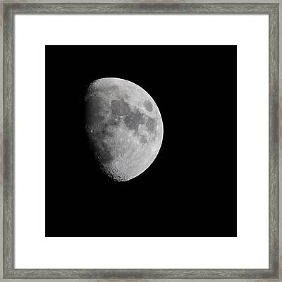 Real Moon Framed Print by Tom Dowd