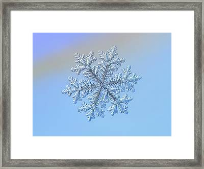 Framed Print featuring the photograph Real Snowflake - Hyperion by Alexey Kljatov