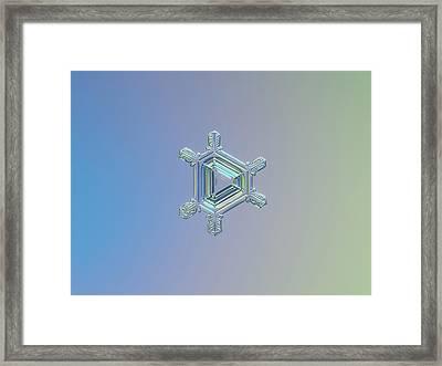 Real Snowflake Photo - Emerald Framed Print by Alexey Kljatov