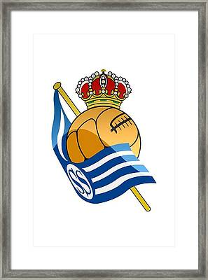 Real Sociedad De Futbol Sad Framed Print by David Linhart