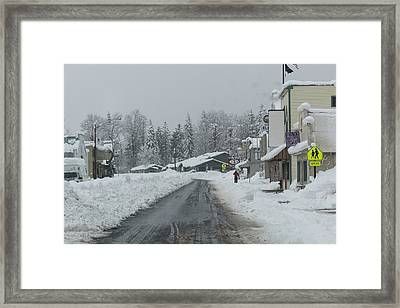 Real Winter Framed Print