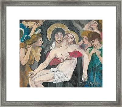 Framed Print featuring the painting Realism by Janelle Dey