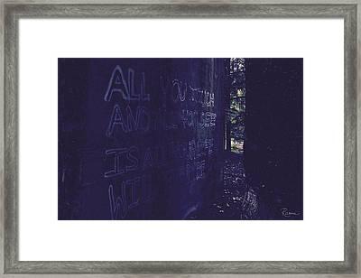 Reality Gap Framed Print