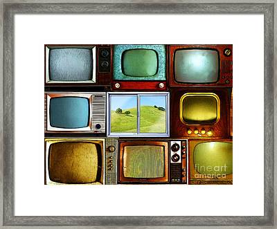 Reality Television 20150928 Framed Print by Wingsdomain Art and Photography