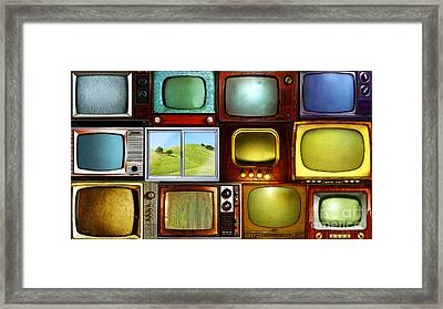 Reality Television 20150928long Framed Print by Wingsdomain Art and Photography