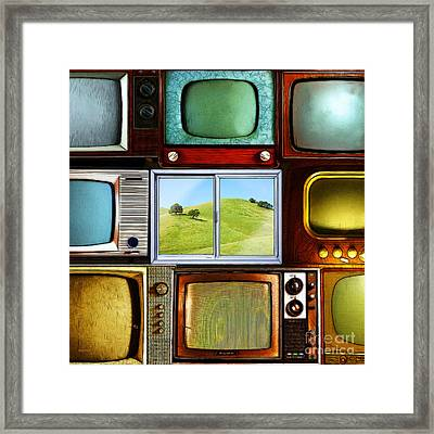 Reality Television 20150928square Framed Print by Wingsdomain Art and Photography