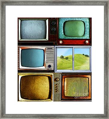 Reality Television 20150928vertical Framed Print by Wingsdomain Art and Photography