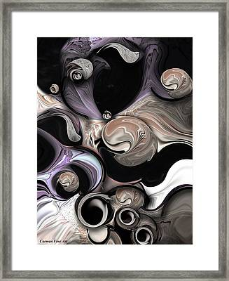 Reality Vs Departure Framed Print