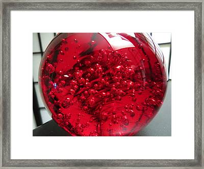 Really Red Framed Print