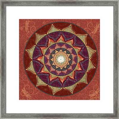 Realm Of The Desert Lotus Mandala Framed Print