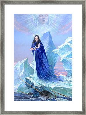 Realm Of The Ice Queen Framed Print by Richard Hescox
