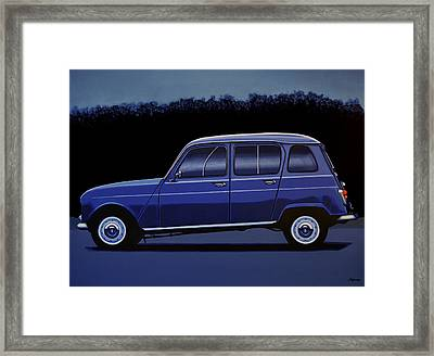 Renault 4 1961 Painting Framed Print by Paul Meijering