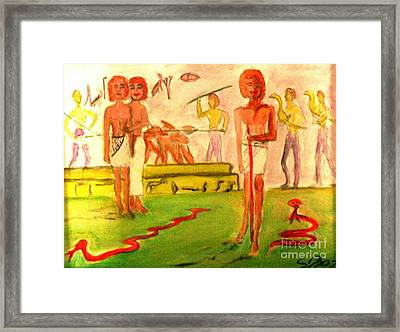 Reanimation Of Ancient Egypt Framed Print by Stanley Morganstein