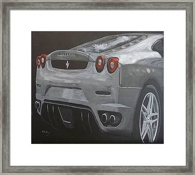Rear Ferrari F430 Framed Print
