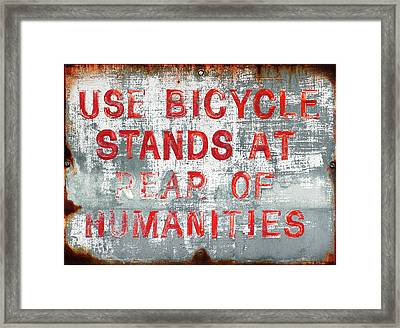 Rear Of Humanities Framed Print by Todd Klassy