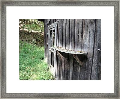Rear Shelf Framed Print by Terry  Wiley
