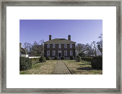 Rear View George Wythe House And Garden Framed Print
