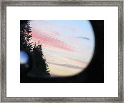 Rear View Sunset Sky Framed Print by Pamela Patch