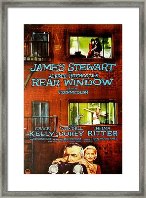 Rear Window, Grace Kelly, James Framed Print by Everett