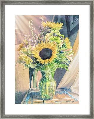 Reared In The Lap Of Summer Framed Print by Bellesouth Studio