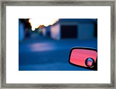 Rearview Mirror Framed Print