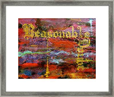 Reasonable Doubt Framed Print by Laura Pierre-Louis