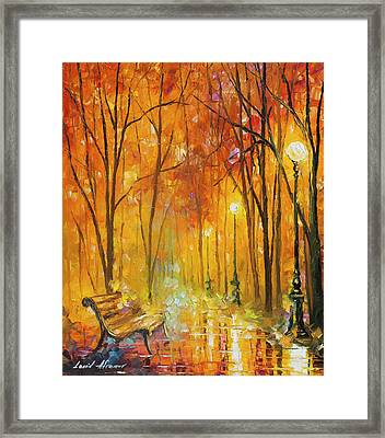 Reasons Of Autumn  Framed Print by Leonid Afremov