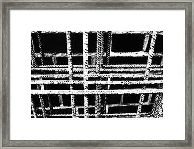 Rebar And Brick - Industrial Abstract Framed Print