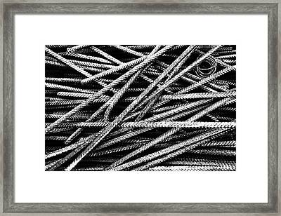 Rebar And Spring - Industrial Abstract  Framed Print