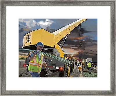 Rebar Concrete And Muscle Framed Print by Brad Burns