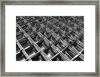 Rebar On Rebar - Industrial Abstract Framed Print