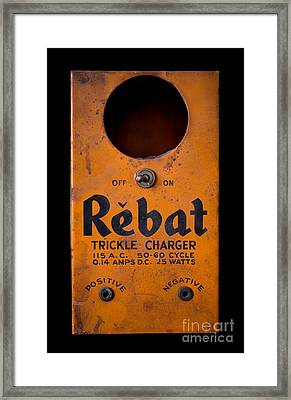 Rebat Vintage Automotive Battery Trickle Charger Framed Print by Edward Fielding