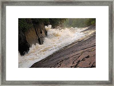 Rebecca Falls At Sunset Framed Print by Larry Ricker