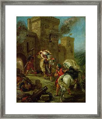 Rebecca Kidnapped By The Templar Framed Print by Ferdinand Victor Eugene Delacroix