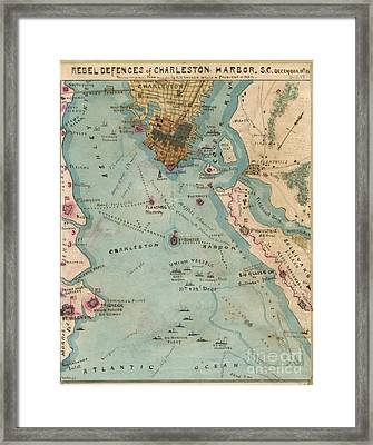 Rebel Defenses Of Charleston Harbor Framed Print