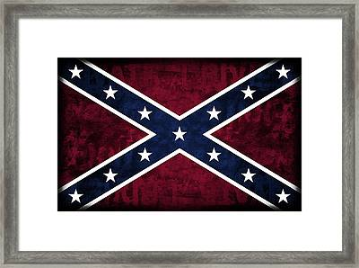 Rebel Flag Framed Print by Daniel Hagerman