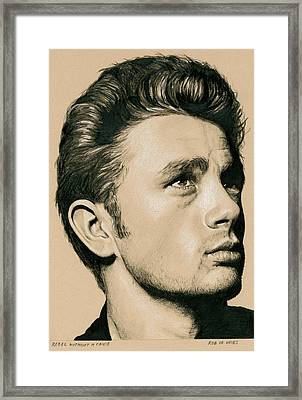 Rebel Without A Cause Framed Print by Rob De Vries