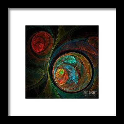 Green Color Framed Prints