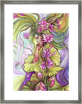 Rebirth With The Sacred Lotus Framed Print