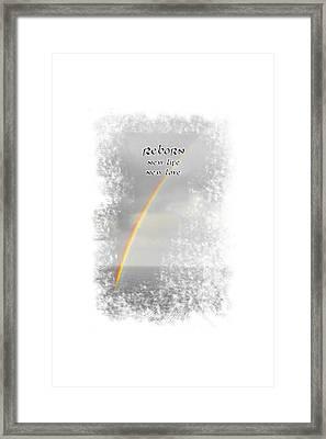 Reborn Framed Print by Judy Hall-Folde