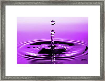Rebounding Droplet Framed Print