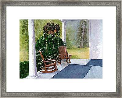 Framed Print featuring the painting Recap by Lynn Babineau