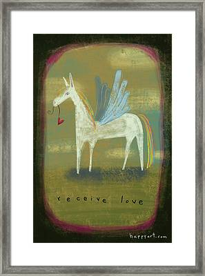 Framed Print featuring the painting Receive Love by Marti McGinnis