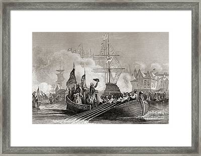 Reception Of President Washington At New York Usa April 23rd, 1879 Framed Print