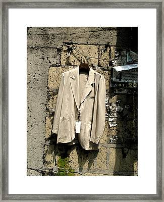 Recession - Question Mark Framed Print by John Bradburn