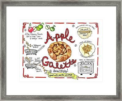 Recipe- Apple Galette Framed Print