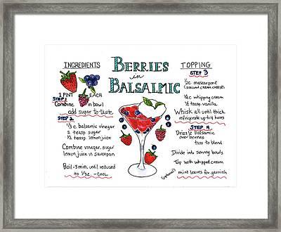 Recipe- Berries In Balsamic Framed Print