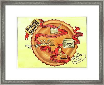 Recipe-butternut Squash Pie Framed Print