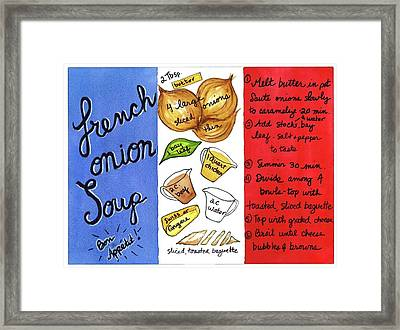 Recipe French Onion Soup Framed Print