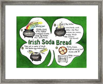 Recipe - Irish Soda Bread Framed Print